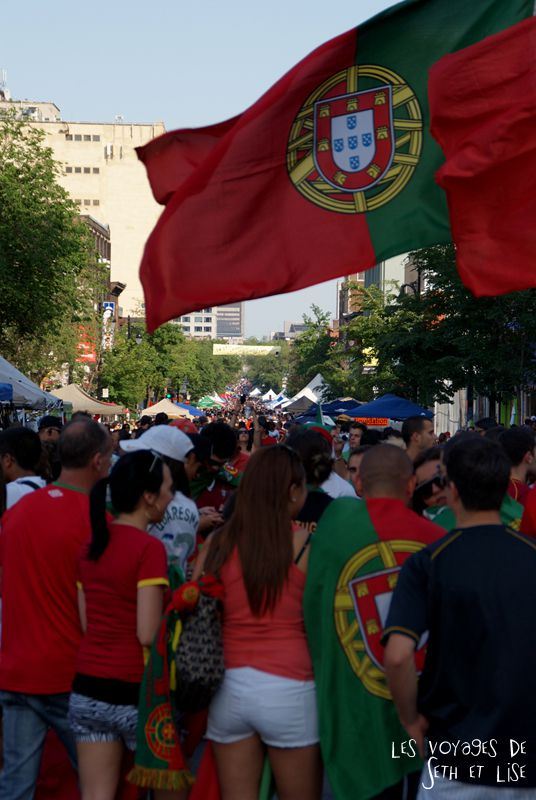 pvt canada montreal blog main st laurent frenesie couple voyage euro 2012 portugal supporter drapeau