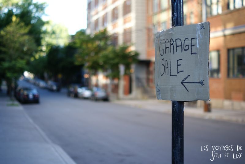 blog canada montreal pvt seth lise photo sunrise urbain soleil crépusucle garage sale sign