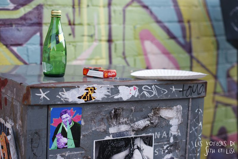 blog canada montreal pvt seth lise photo sunrise urbain soleil crépusucle party cigarette perrier trash