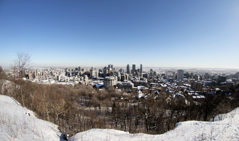 blog pvt canada voyage photographie montreal mont royal hiver neige vue building 8mm