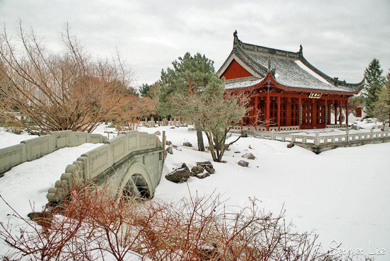 blog pvt canada montreal photographie couple tour du monde botanic garden jardin botanique chinois temple pont