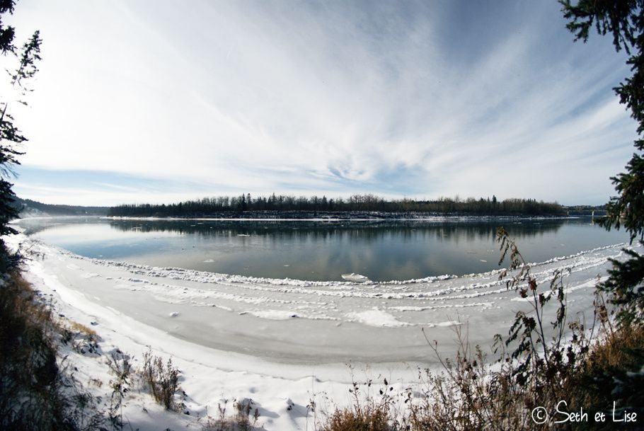 blog canada voyage photo pvt edmonton hiver riviere froid