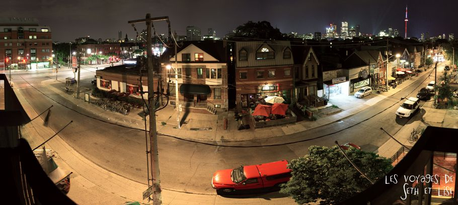 blog pvt whv canada toronto travel voyage kensigton chinatown couple panorama nuit night