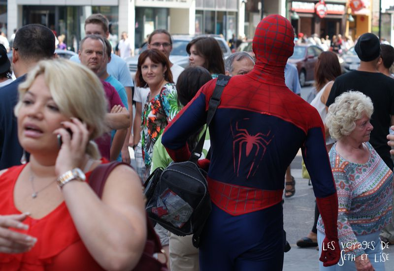 blog voyage toronto canada pvt montreal people portrait photo spiderman marvel superhero