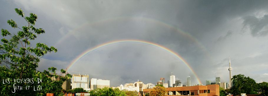 blog voyage canada toronto rainbow weather arcenciel nature pvt couple