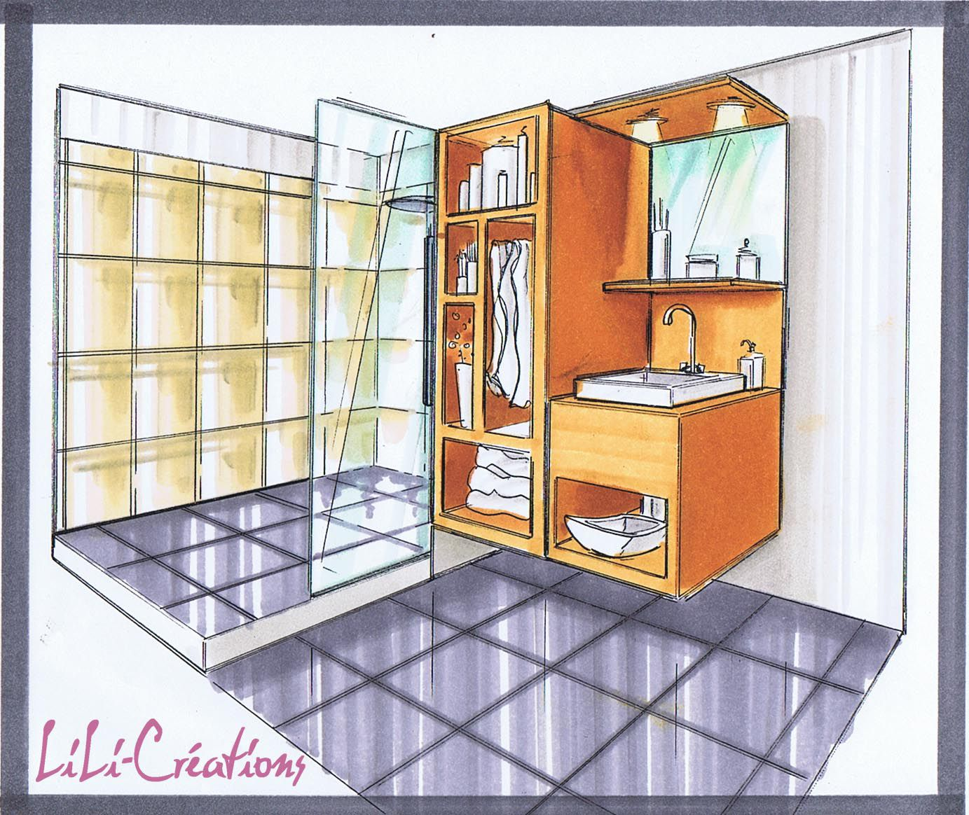 Le blog de elise fossoux d coration architecture d for Plan de douche a l italienne