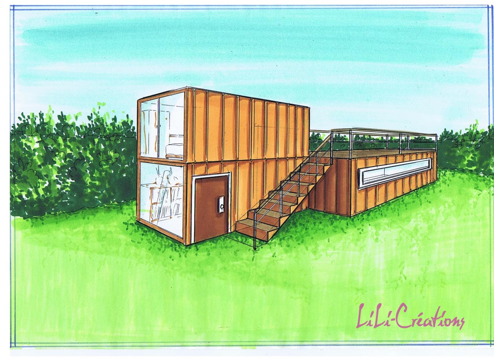 Maison container 12 le blog de elise fossoux for Plan conteneur