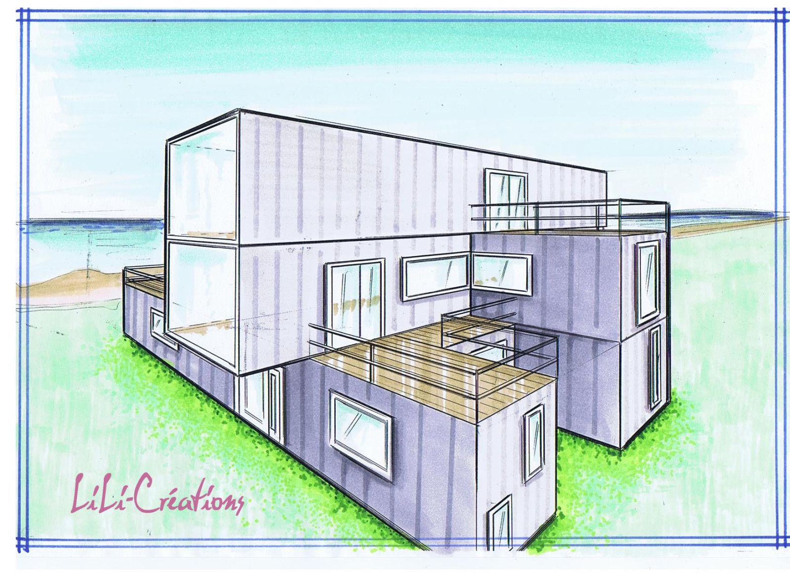 Container salon joy studio design gallery best design for Construction de maison container