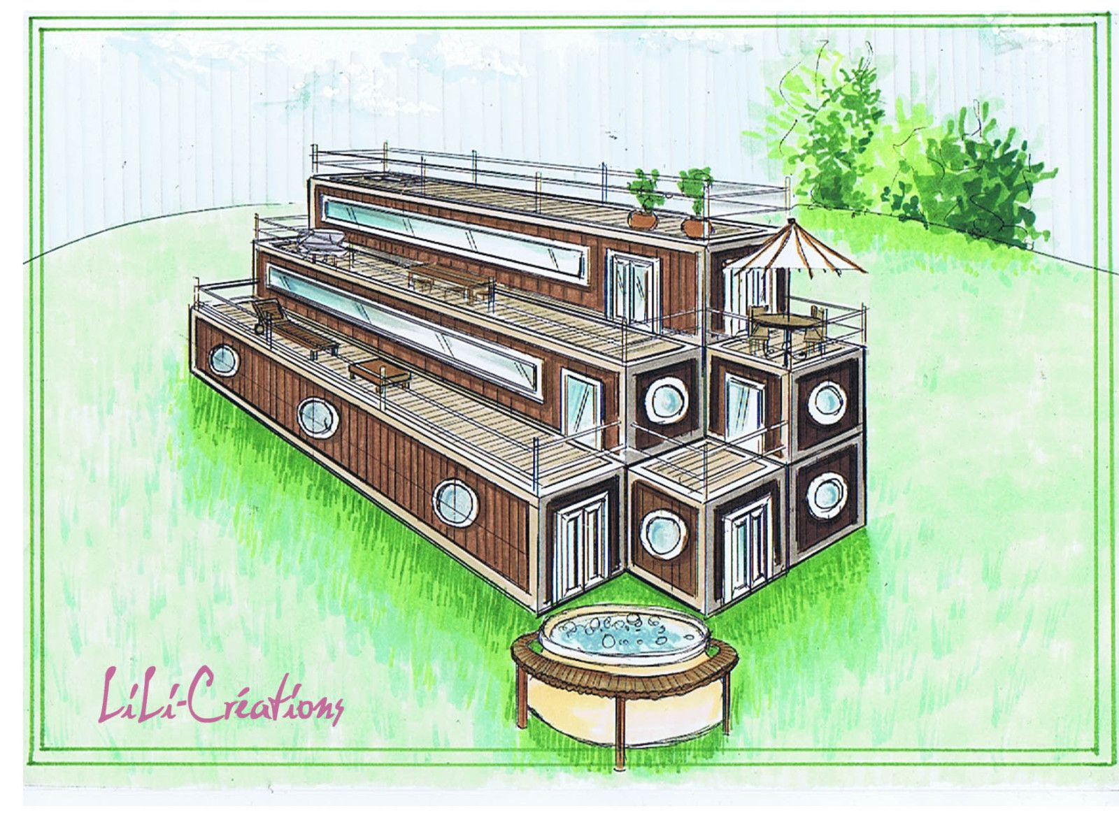 Maison en container 4 le blog de elise fossoux for Comment construire sa maison container