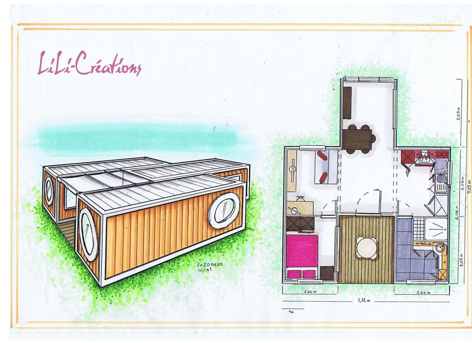 Le blog de elise fossoux d coration architecture d for Maison container 2 chambres