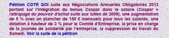 Pétition CGT R GOI négociations salaires 2012 - 8 novembre 2011