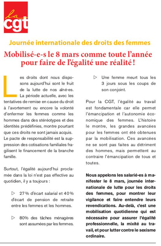 Visu Tract CGT 4 pages 8 mars 2014