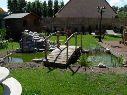 Bassin Avec Pont Bois De M GARDEN CONCEPT PAYSAGISTE TEL - Bassin de jardin bois 2