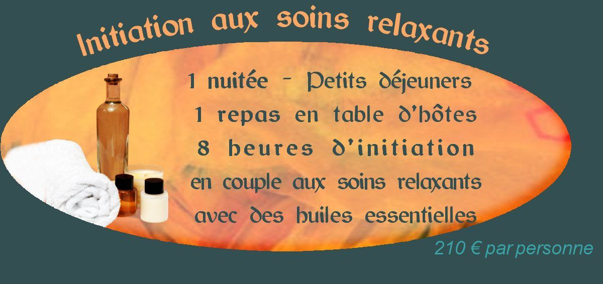 Initiation au massage dtente en couple le week-end ou la semaine proche de Paris
