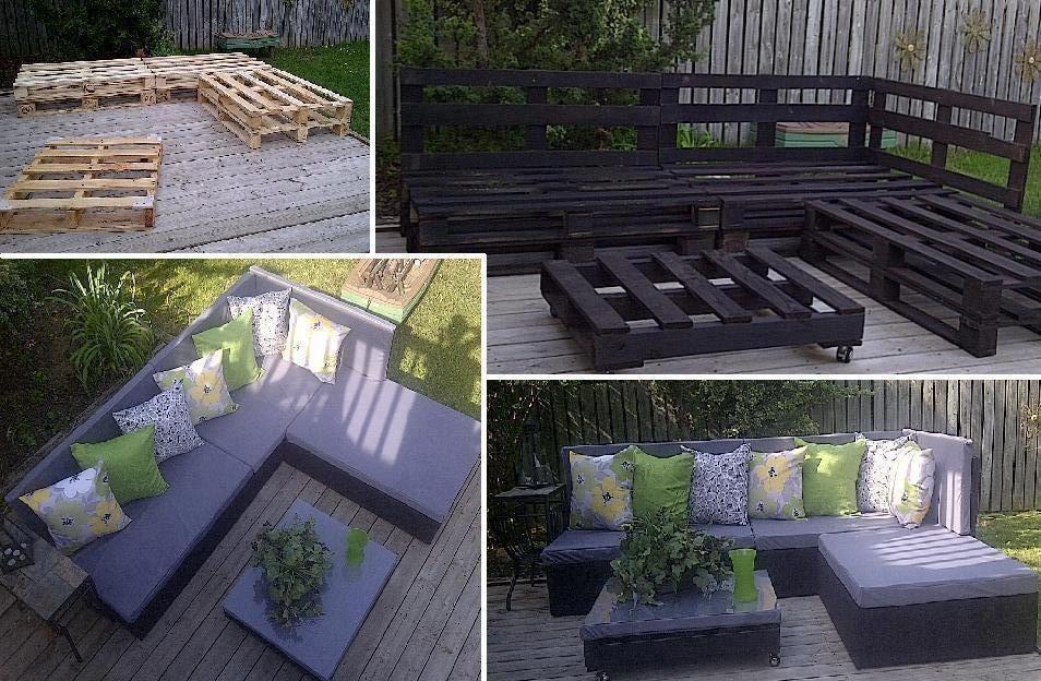 Beautiful salon de jardin avec des palettes europe pictures