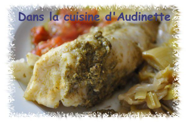 Queue de lotte au pistou dans la cuisine d 39 audinette for Cuisine queue de lotte