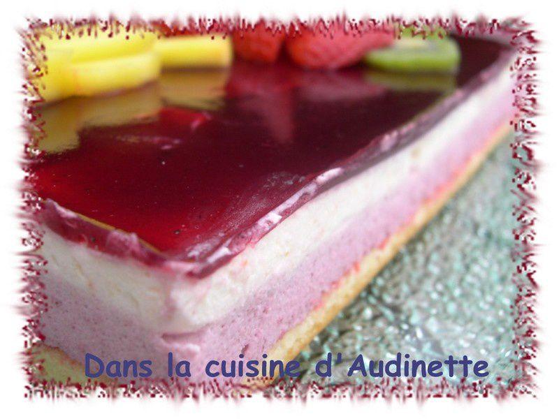 Bavarois fruits exotiques et fruits rouges dans la - La cuisine d audinette ...
