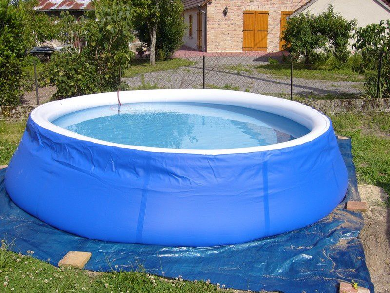 L 39 installation d 39 une piscine auto portante tout un for Piscine a boudin
