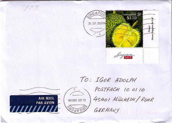stamp durian fruit
