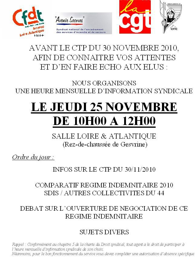 reunion info syndicale