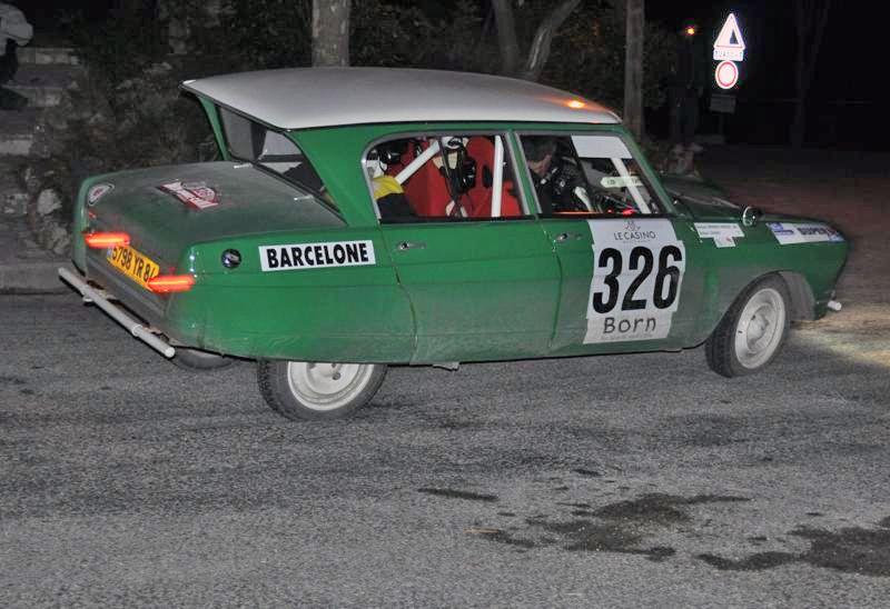 13ème Rallye Monte Carlo Historique 2010. Citroën Ami 6 de 1965. 51ème au général, 1er classe 1 des voitures construites entre 1962 et 1965, 5ème de la catégorie.