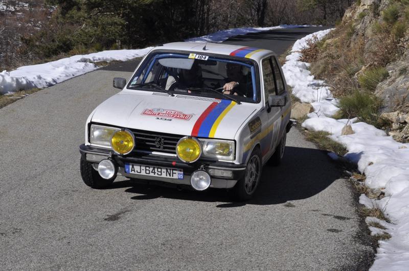 13ème Rallye Monte Carlo Historique 2010. Peugeot 104 ZS de 1977. 10ème au général, 3ème classe 1 des voitures construites entre 1972 et 1979,6ème de la catégorie.