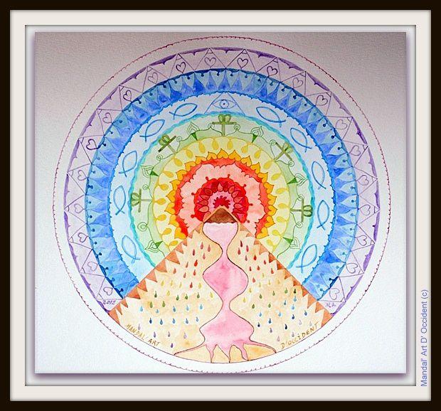 Coloriage Mandala Volcan.Mandala Volcan Aux Retombees Arc En Ciel Maous Artiste Defiant L