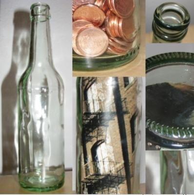 Bierflaschen-Deko