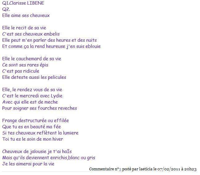 Laeticia poeme