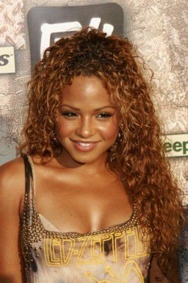 long curly hair christina milian - Coloration Cheveux Boucls