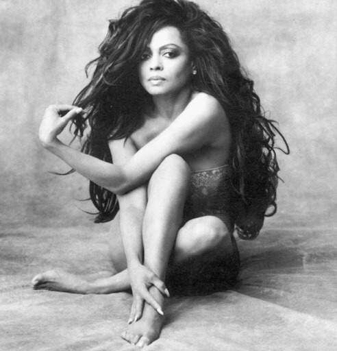 Diana ross long curly hair