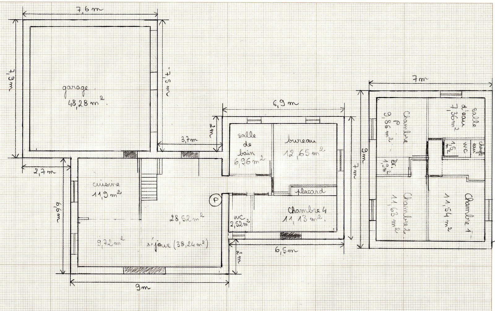 Plans de la maison le blog de fred et aur lie - Faire un plan maison ...