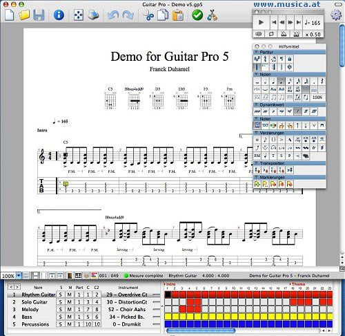 partition guitare pro 5