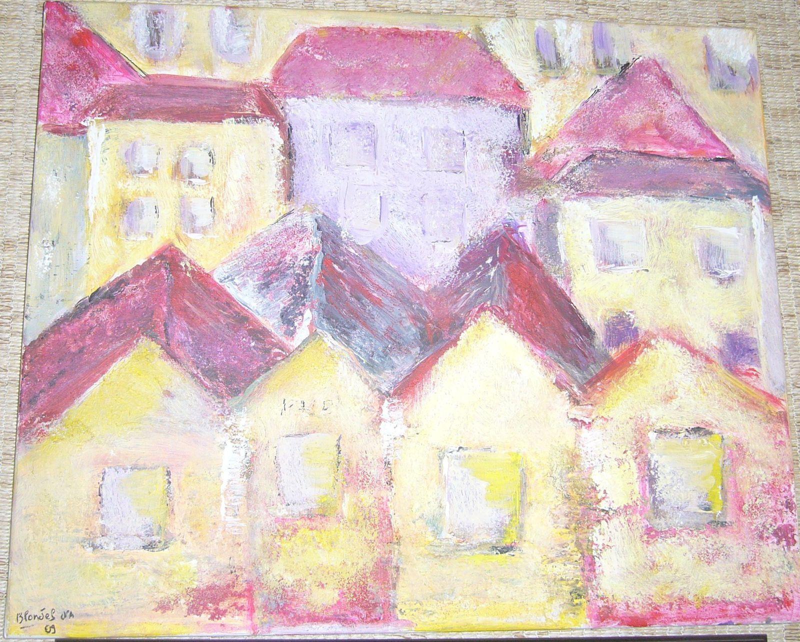 quelques tableaux de Nicole Blondel de Strasbourg