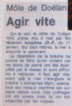 c réd a Article OF 1988 Môle emporté