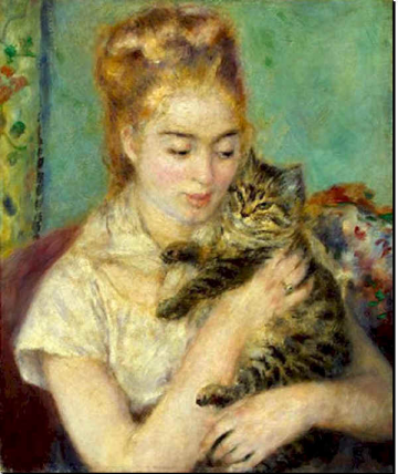 medium Renoir Jeune fille au chat