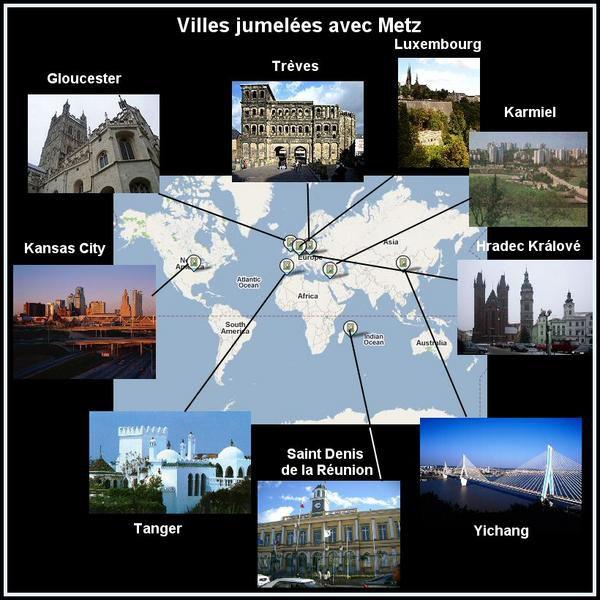Villes jumelées avec Metz