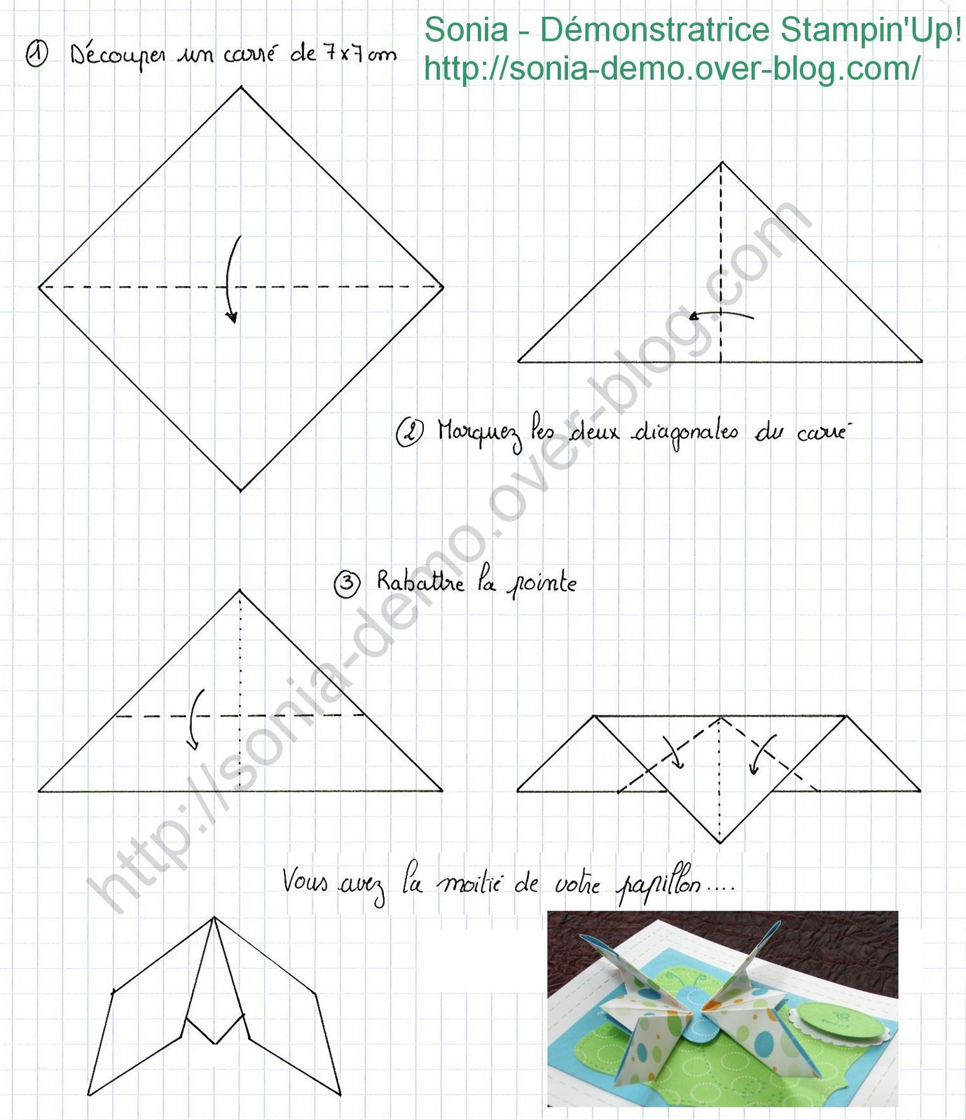 tutoriel papillon en origami le blog de sonia. Black Bedroom Furniture Sets. Home Design Ideas