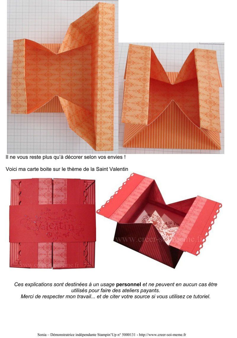 Boite Rectangle Origami Facile