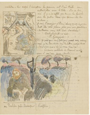 lettre de Gauguin à Vincent Van Gogh (fin)