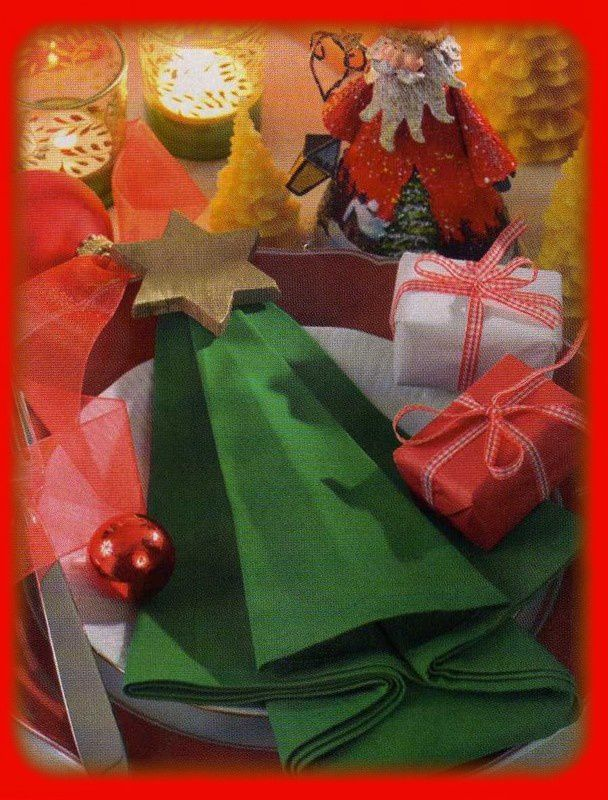No l pliage de serviettes cuisiner tout for Pliage de serviette de table pour noel