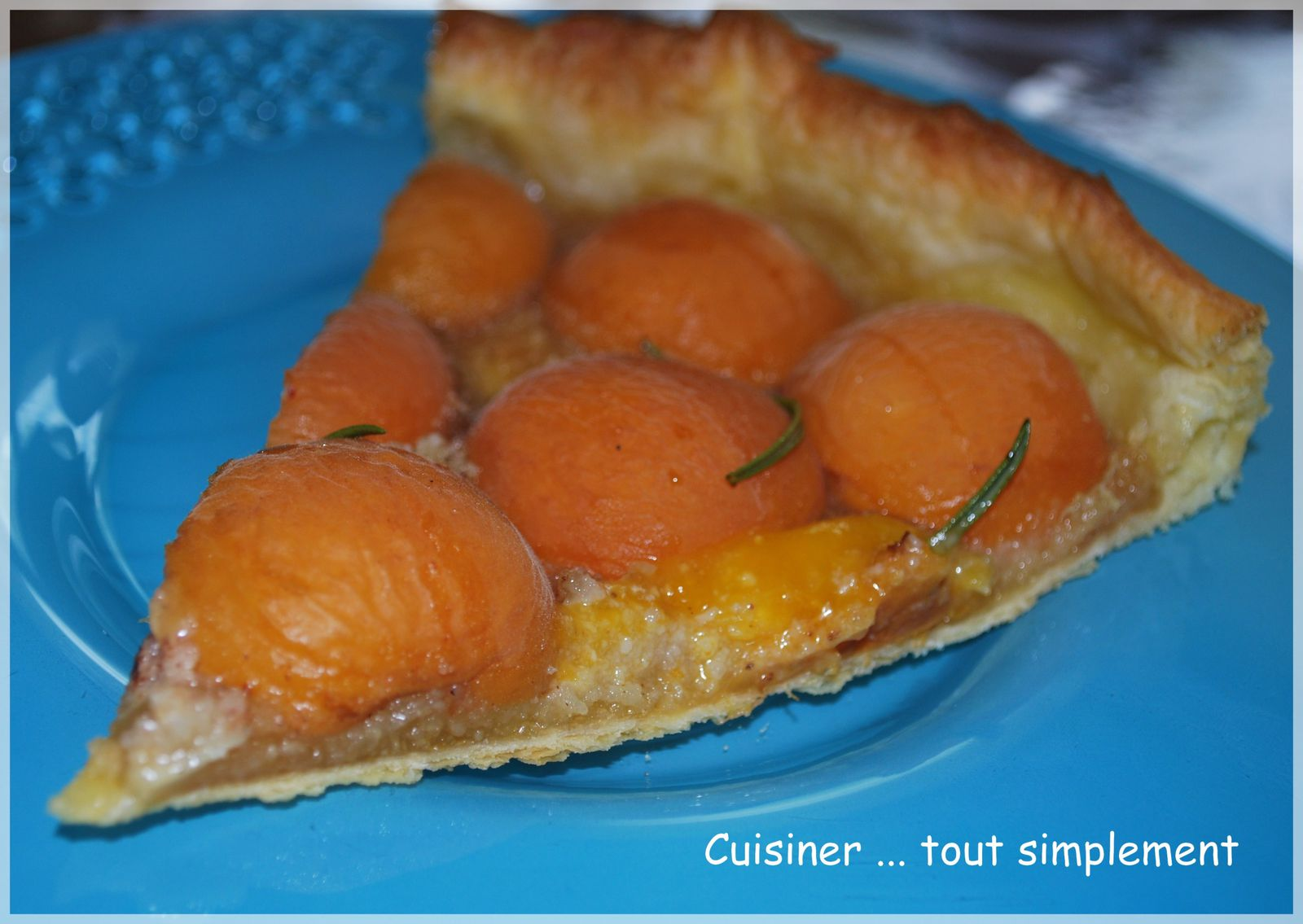 tarte aux abricots miel romarin cuisiner tout. Black Bedroom Furniture Sets. Home Design Ideas
