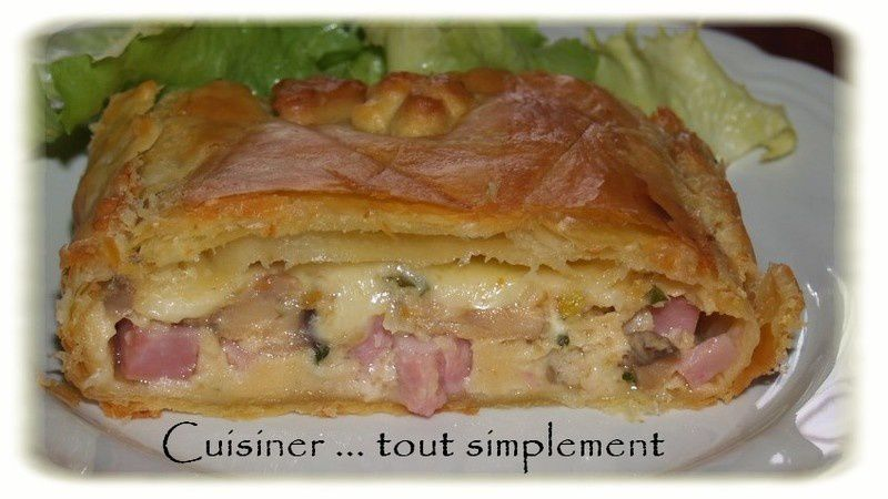 tourte aux champignons et au jambon cuisiner tout simplement le blog de cuisine de nathalie. Black Bedroom Furniture Sets. Home Design Ideas