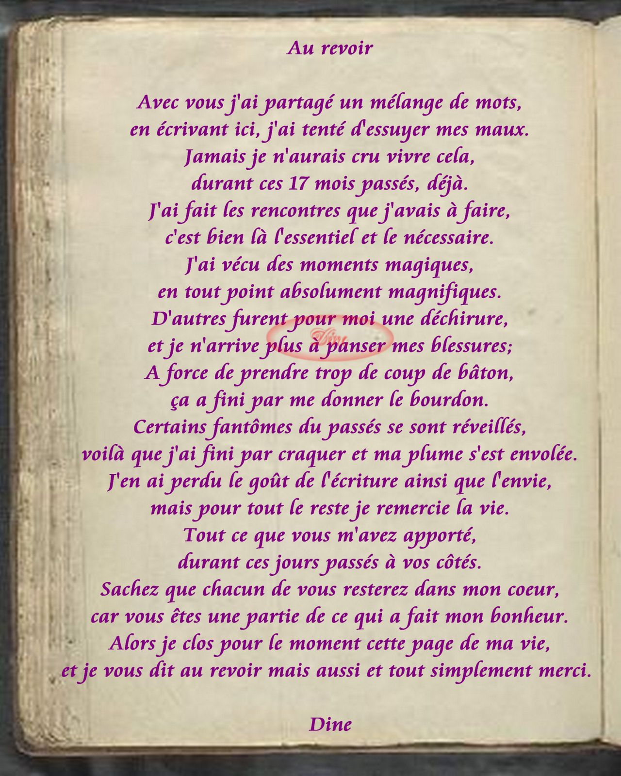 blog poemes rencontre