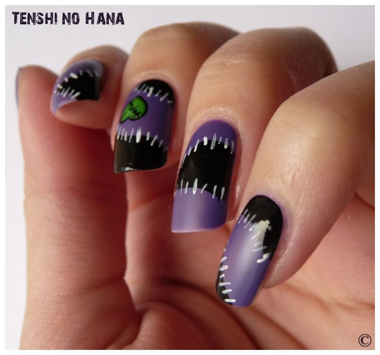 halloween 2011 2 zombie girly nature nails nail art by tenshi no hana. Black Bedroom Furniture Sets. Home Design Ideas