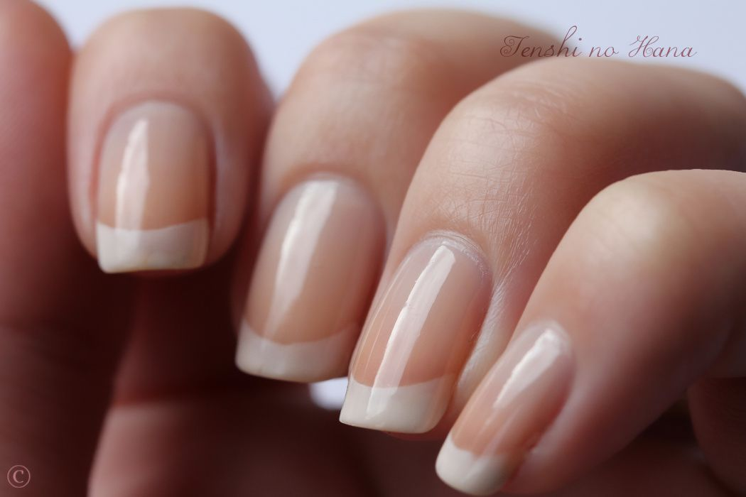 La French Chez Ecrinal Test Du Kit French Manucure Nature Nails Nail Art By Tenshi No Hana