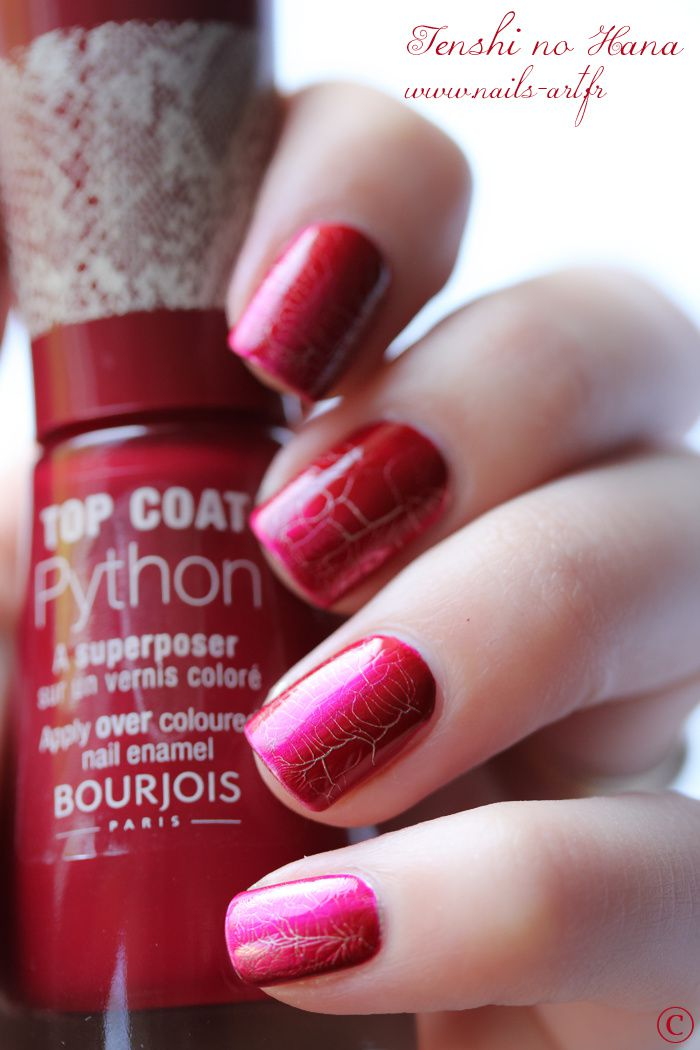 bourjois top coat python nature nails nail art by tenshi no hana. Black Bedroom Furniture Sets. Home Design Ideas