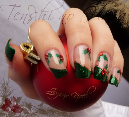 Joyeux Noël , Nature Nails Nail Art by Tenshi no Hana