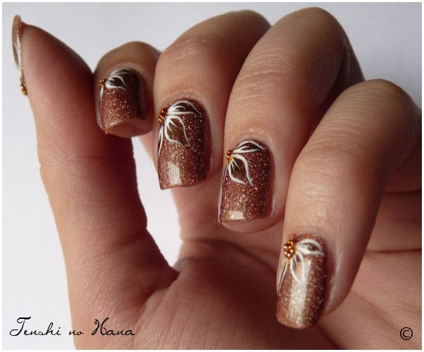 decoration ongles automne