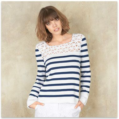 modele tricot mariniere femme